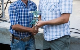 Man receiving an award at the Carman Country Fair