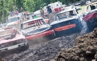 Demolition Derby at the Carman Country Fair